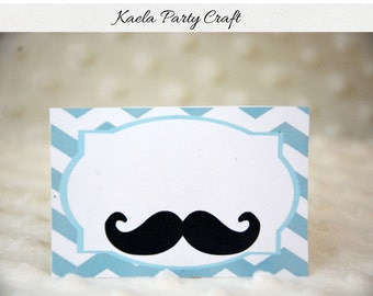Mustache food tent cards. Mustache food labels. Mustache birthday. Mustache birthday party. Mustache baby shower decoration