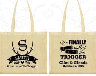 We finally pulled the trigger, Imprinted Cotton Bags, Shotgun Wedding Bags, Antler Bags, Welcome Wedding Bags (564)
