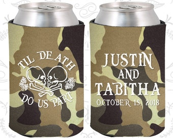 Camouflage Wedding, Can Coolers, Camouflage Wedding Favors, Camouflage Wedding Gift, Camouflage Party Decorations (85)