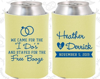 Ivory Wedding, Can Coolers, Ivory Wedding Favors, Ivory Wedding Gift, Ivory Wedding Decorations (243)