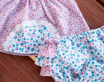 Spring/Summer Outfit , Baby girl clothing. Baby Girl Spring Outfit, Ruffled Diaper Covers