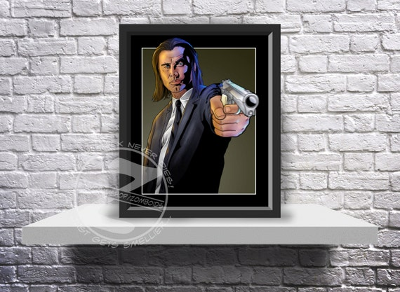 Pulp Fiction Vincent Vega (John Travolta) Print Poster - Choose Size and Frame