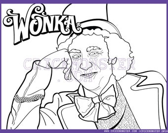 printable coloring pages willy wonka - photo#9