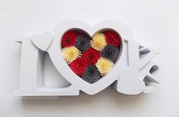 Sticker de coeur amour stand, ornement, décor de pépinière, coeur de papier, anniversaire de mariage de l