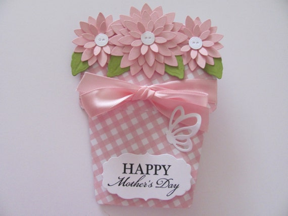 Mothers day card unique flower pot by sassyscrapscrafts on - Unusual mothers day flowers ...