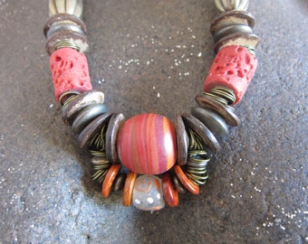 Tribal Jewelry, Trade Beads, Beads Africa, South Africa, Ethnic Beads, Africa, Tribal Beads, Beaded Necklace, African South African #A220