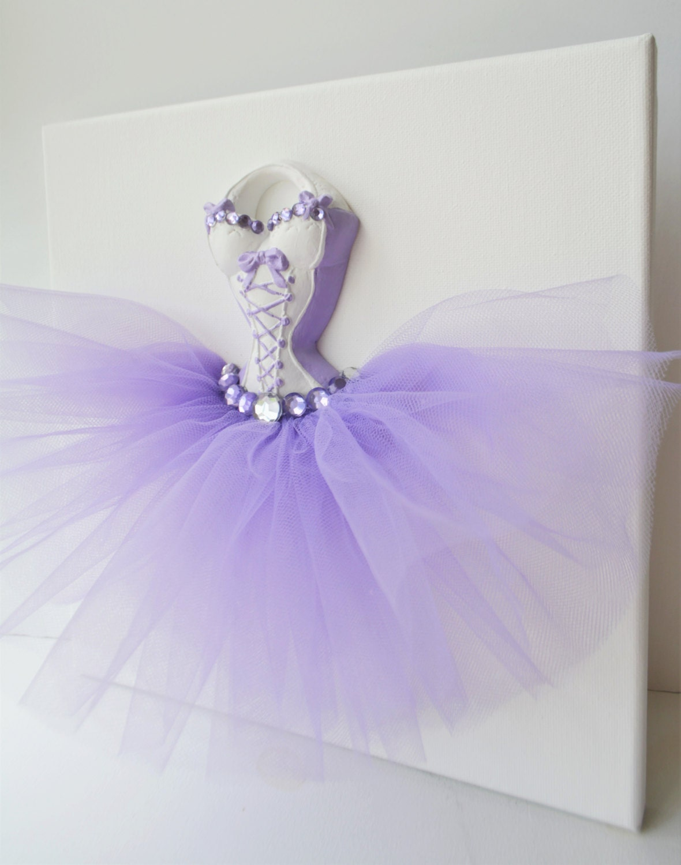 princess ballerina tutu dress wall art one 10 x 10 canvas in. Black Bedroom Furniture Sets. Home Design Ideas