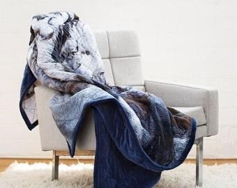 Copper Night Quilt - Digitally Printed Velvet Quilt