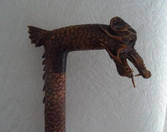Wooden Walking Sticks Dragon Woodcarving