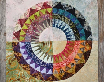 New York Beauty Quilt Block Paper Piecing Pattern - Block W
