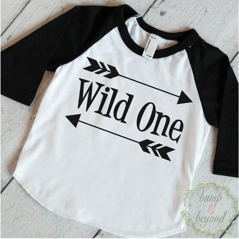 Wild One First Birthday Shirt Boy 1st Birthday Outfit Arrow