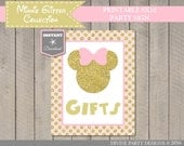 INSTANT DOWNLOAD Pink and Gold Glitter Mouse Printable 8x10 Gifts Sign / Mouse Glitter Collection / Item #2013