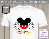 INSTANT DOWNLOAD Print at Home Mouse Daddy Printable Iron On Transfer / T-shirt / Family Trip / Party / Item #2373