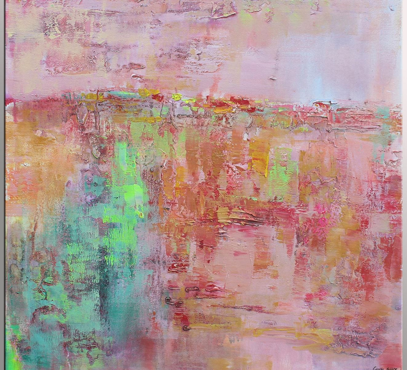 abstract oil painting painting abstract by georgemillerart