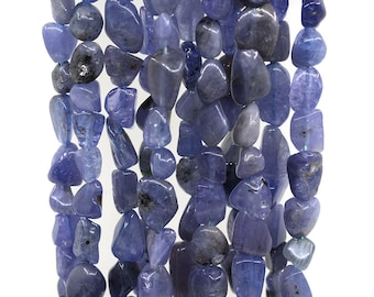 0410 Tanzanite  Pebble Chips loose gemstone beads 16""