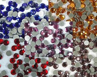 3600 Pcs Ss16 Hotfix Rhinestones 4mm Hot Fix- 5 Royal Colors - By Threadart