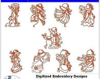 Embroidery Design CD - Winter Sunbonnets(1) - 9 Designs - 9 Formats - Threadart