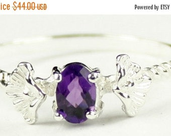 Summer Sale, 30% Off, SR192, .50ct Amethyst, 925 Sterling Silver Ring