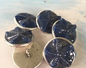 Blue Starfish Buttons / Beachy Buttons / Starfish Jewelry / Knitting and Crochet Accessories, Sewing Notions, Buy Individually or as a set