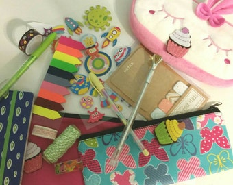 Large Grab Bag for snail mail, scrap/smash book, and planners