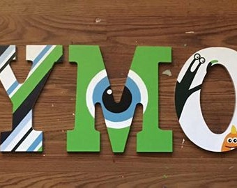 Monsters Inc. Wooden Letters