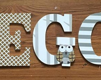 Levtex Baby Night Owl Wooden Letters