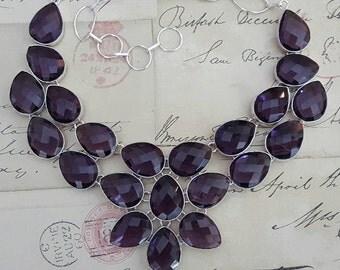 Silver Silver Necklace, Purple AMETHYST Quartz, Silver Necklace, Sterling Silver Jewelry, Metaphysical, Women, Chakra, Birthstone, Aquarius