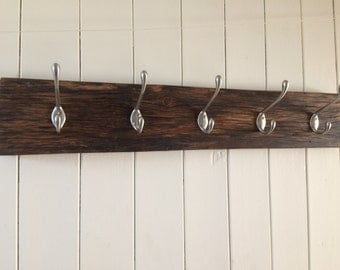 Reclaimed Solid Wood Coat Hooks