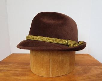 FUR FELT HAT, Vintage fashion hat, Biltmore hat, Outdoor, Men's hat, Women's hat, Fedora, Winter hat, Winter accessories, Father's day
