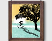 "Screen Printed ""The Great Outdoors - Bike"" Poster Art Adventure Bicycle Print by Or8 Design"