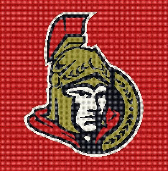 Ottawa Senators Crochet Afghan Blanket by AngelicCrochetDesign