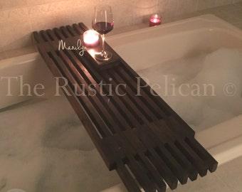 Reclaimed Wood Tub Caddy   Rustic Bathtub Tray  Barn Wood Bathtub Caddy  Tub  Shelf  Bathroom Decor  Bath   Spa  Home Design  Wedding Gift