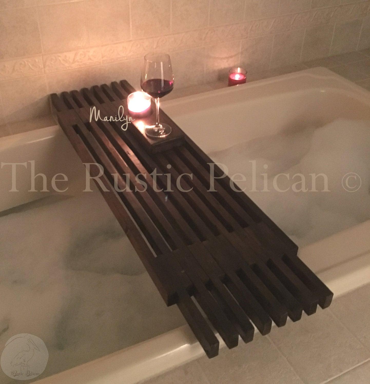 Bathtub Tray Reclaimed Wood Tub Caddy Rustic Bathtub Tray Barn Wood