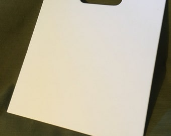 Corian cutting board in white