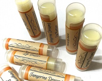 TANGERINE DREAMS Lip BUTTER Natural Lip Balm Chapstick with Shea Butter