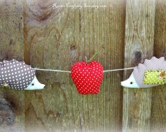 Nursery Room Garland-Woodland Nursery Decor-Nursery Decoration Ideas-Apple Garland-Thanksgiving Wall Decoration