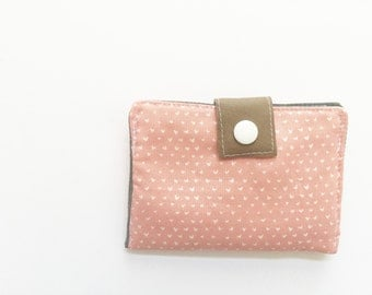 Pink Hearts Business Card Wallet, Credit Card Case