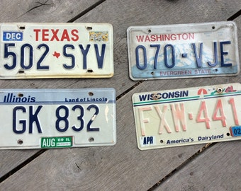 Vintage Texas License Plate Etsy