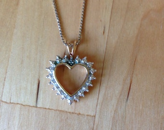 Silver Necklace .925 Made in Italy Heart Charm Pendant