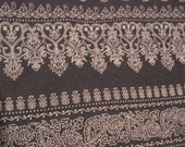 2 Yards of Light Weight Black and Soft White Knit Fabric