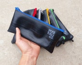 Bike Tool Bag - Recycled Bike Tubes - Large Zipper Pouch - Cyclist Gift Under 20