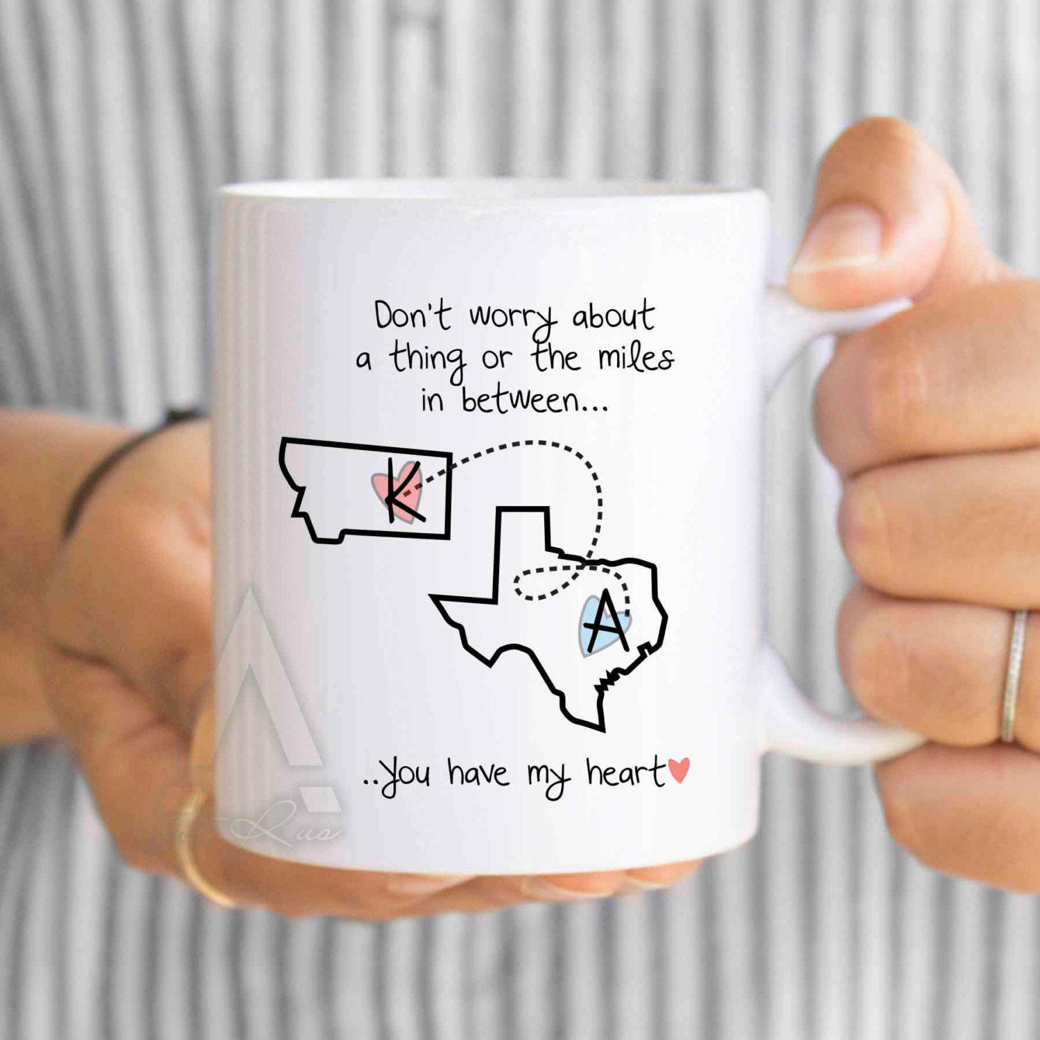 Mens Personalized Long Distance Relationship Gifts Long
