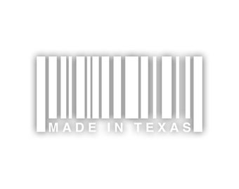 Made In Texas barcode decal