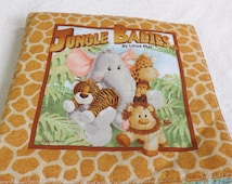 """soft cloth story book titled """"Jungle babies"""" for babies, toddlers and new moms"""