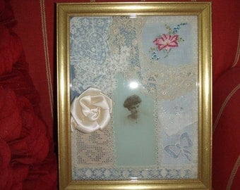 Vintage Picture Frame with Lace