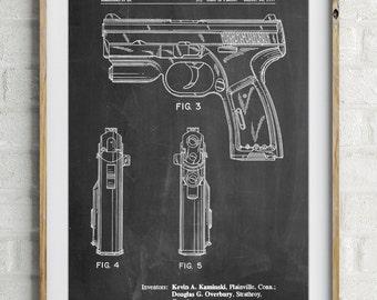 T 1000 Laser Pistol Patent Poster, Gun Enthusiast, Target Practice, Gun Art, Police Gift, Hand Gun, PP1081