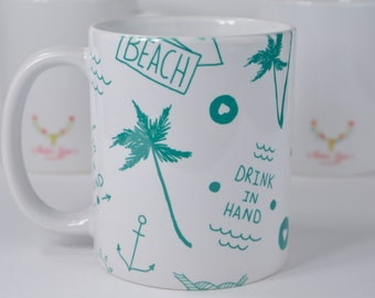 Teal Toes In The Sand Coffee Mug