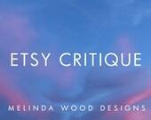 Etsy Critique | Shop Critique, Shop Review - Get a full evaluation of your Etsy Shop