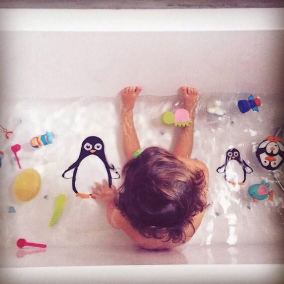 Pingüinos adhesivos para la bañera. vinilos por nicolasitoes