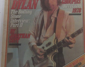 Vintage ROLLING STONE Bob Dylan November 16, 1978-DYLAN Interview Meatloaf Popular Music Update Newsletter-Collectible Magazine/Newspaper